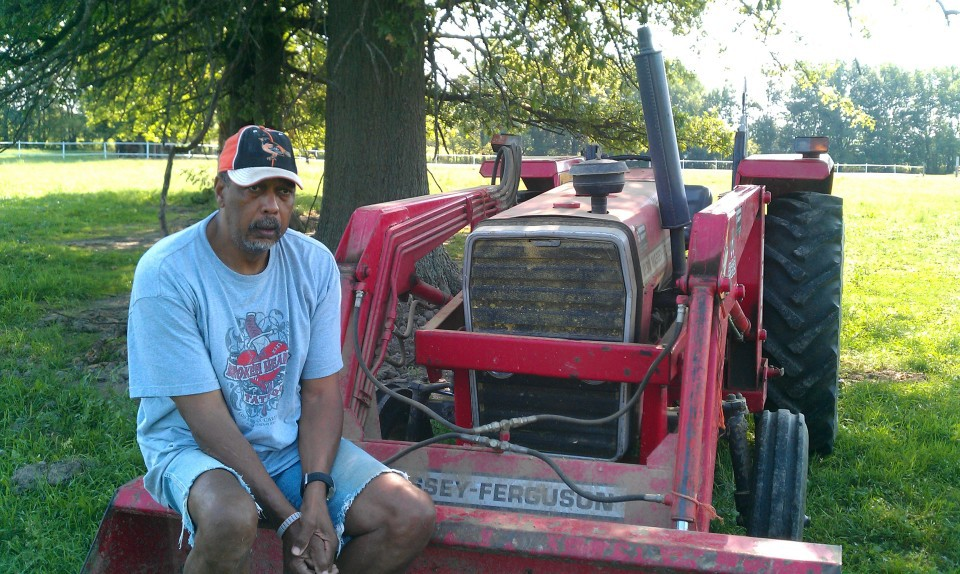 Mel Daniels, on his ranch in Sheridan.