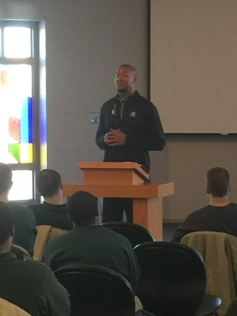 David West visited the Pendleton Correctional Facility to talk with the juvenile inmates. It was an impressive speech, and I tagged along.